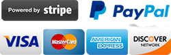 Pay with stripe or PayPal or credit card